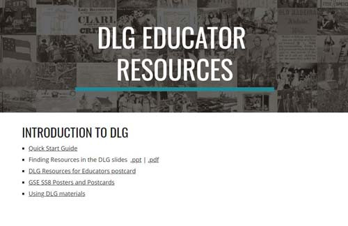 DLG and Me Story Image for DLG Educator Resources