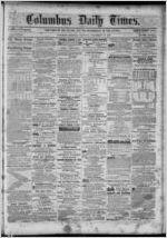 Columbus daily times, 1859 November 29