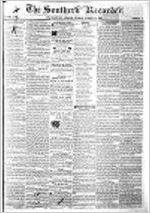 Southern recorder (Milledgeville, Ga.), Oct. 10, 1865