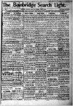 The Bainbridge search light, Mar. 4, 1910