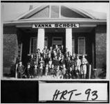[Photograph of class assembled in front of Vanna School, Vanna, Franklin County, Georgia, ca. 1945 ]