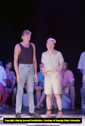 "Actors in Rebecca Ranson's ""Higher Ground: Voices of AIDS,"" Horizon Theatre, Atlanta, Georgia, June 19, 1988"