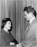 Alice Langdale with Charlton Heston