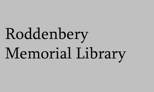 Logo for Roddenbery Memorial Library