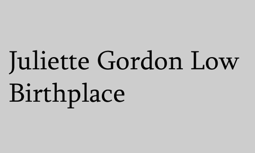 Logo for Juliette Gordon Low Birthplace