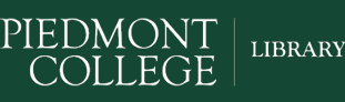 Logo for Piedmont College. Library