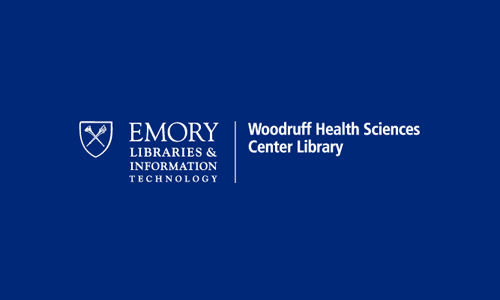 Logo for Robert W. Woodruff Health Sciences Center. Library