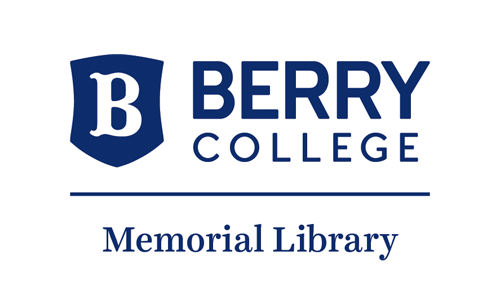 Logo for Berry College. Library