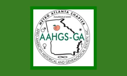Logo for  African-American Historical and Genealogical Society (Washington, D.C.). Metro Atlanta Chapter