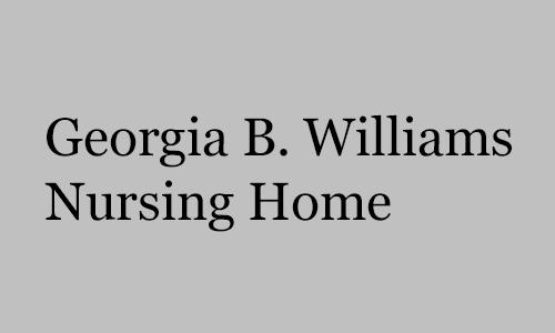 Logo for Georgia B. Williams Nursing Home